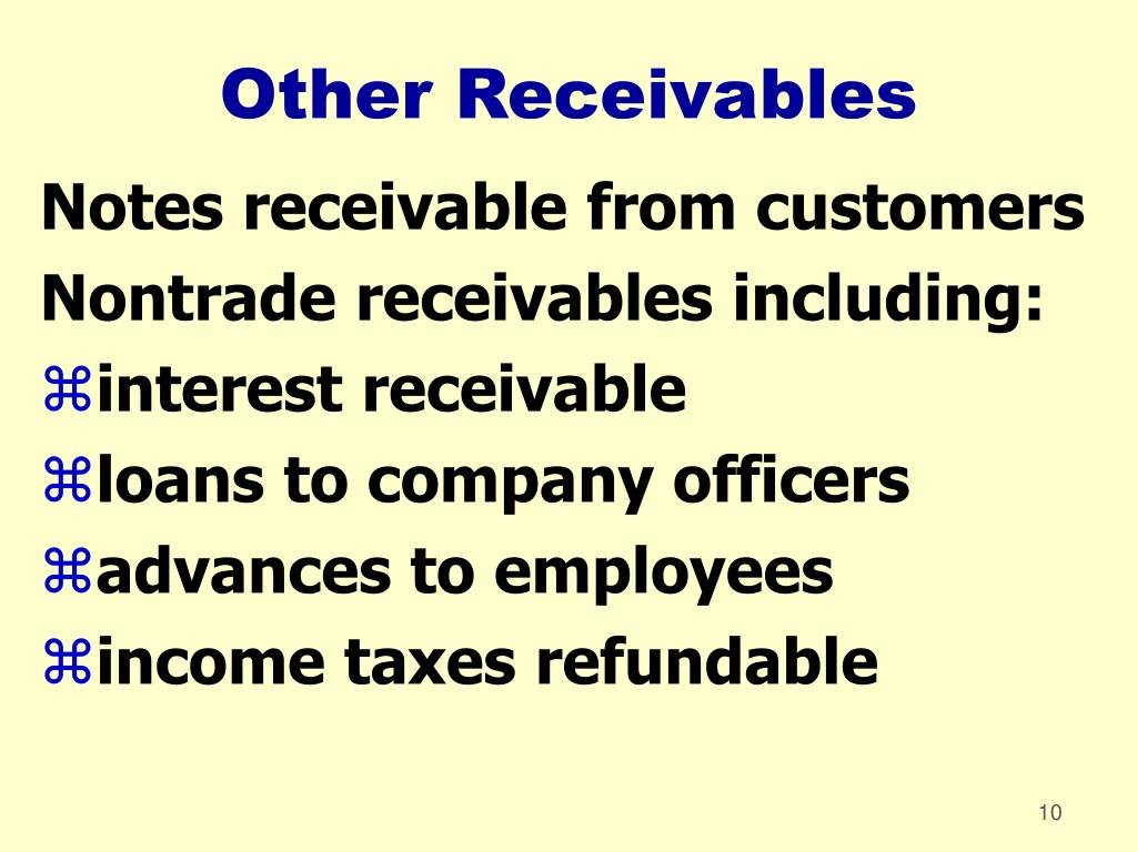 Other Receivables