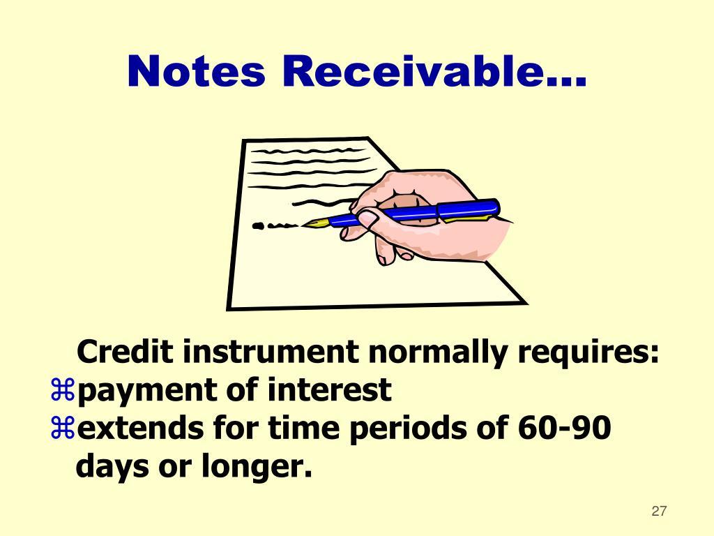 Notes Receivable...