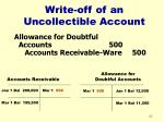 write off of an uncollectible account22
