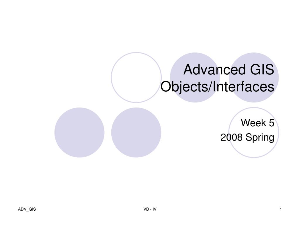 advanced gis objects interfaces l.