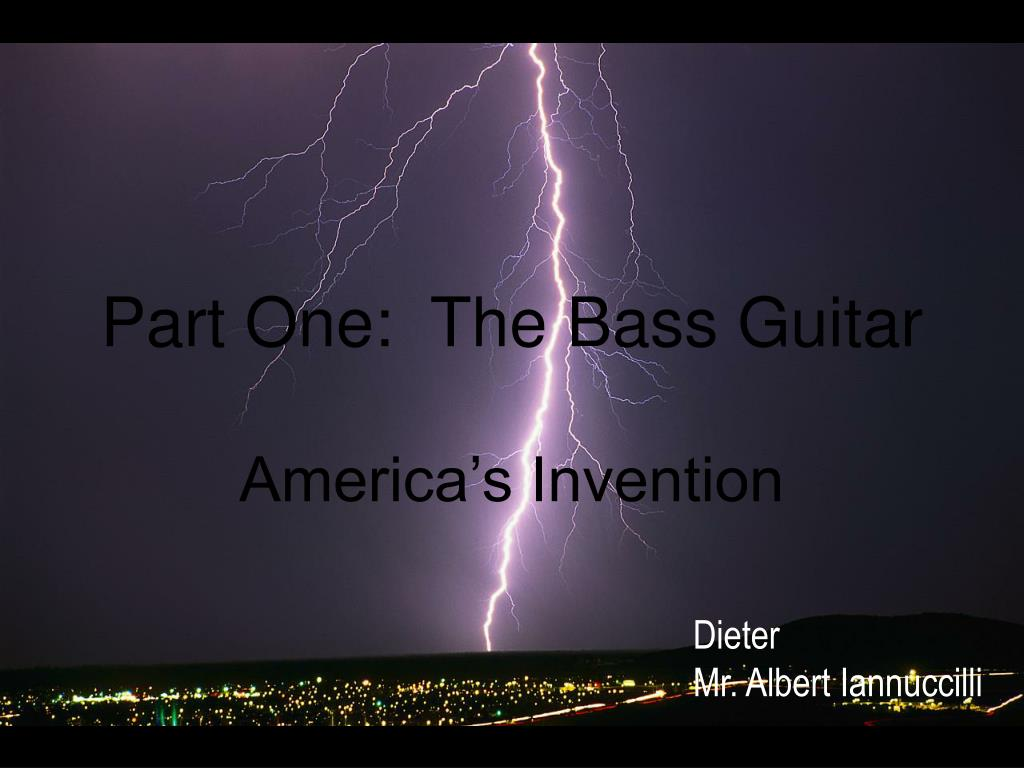 part one the bass guitar l.