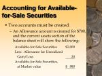accounting for available for sale securities42