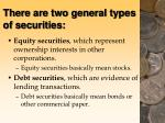 there are two general types of securities