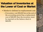 valuation of inventories at the lower of cost or market122