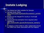 instate lodging