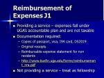 reimbursement of expenses j1