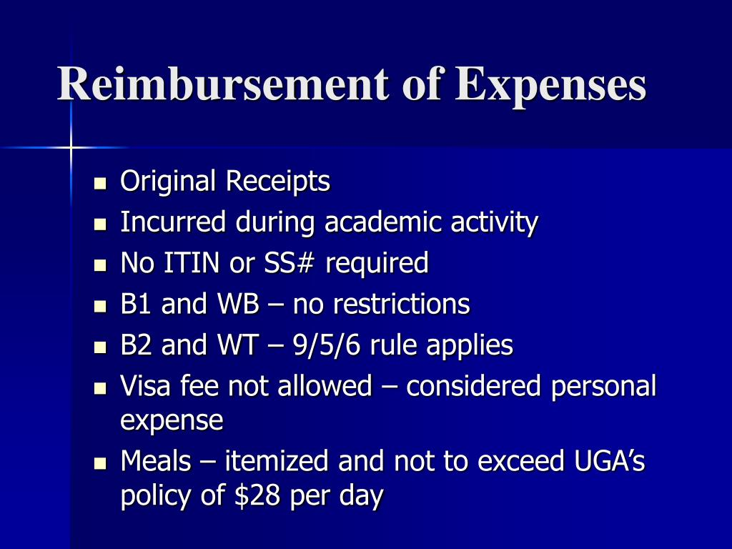Reimbursement of Expenses