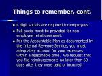things to remember cont