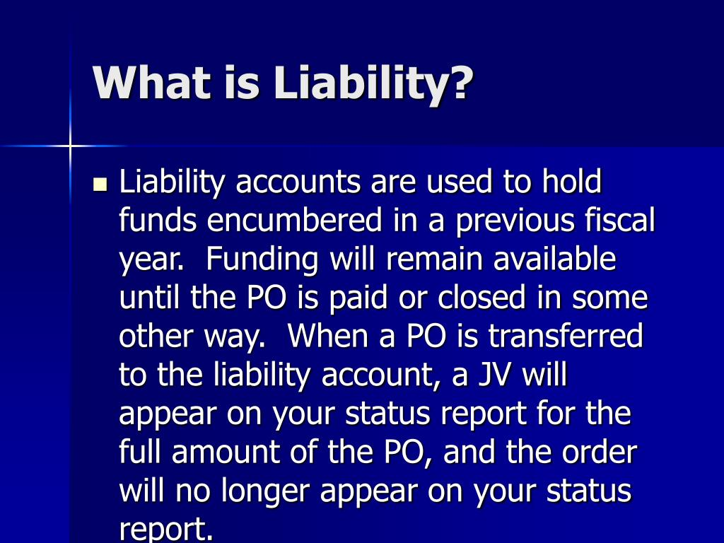 What is Liability?