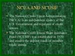 ncua and ncusif