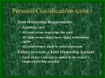 personal classifications cont9