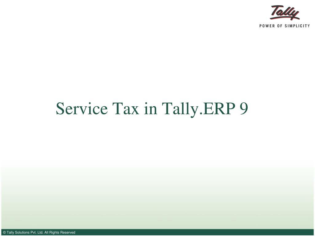 service tax in tally erp 9 l.