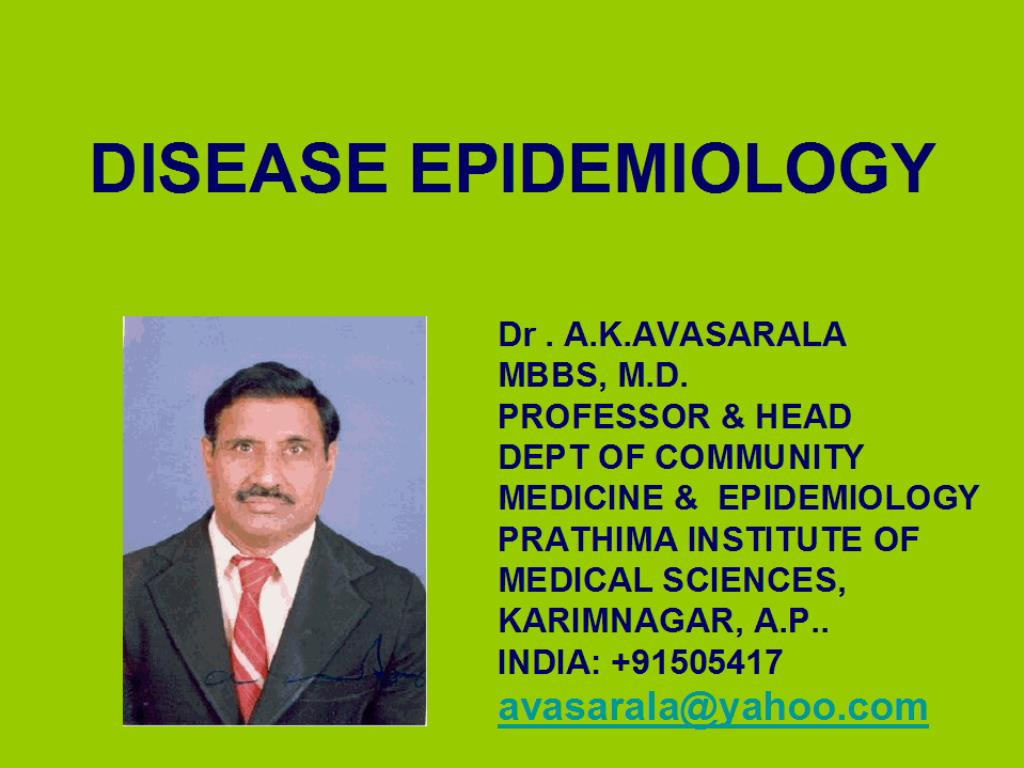 disease epidemiology l.