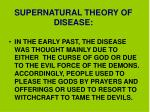 supernatural theory of disease