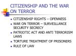citizenship and the war on terror