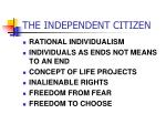 the independent citizen