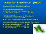 hawaiian electric co heco