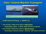 inter island marine transport