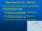 maui electric co meco