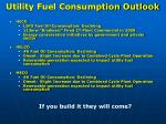 utility fuel consumption outlook