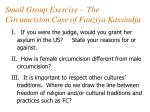 small group exercise the circumcision case of fauziya kassindja
