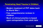 penetrating head trauma in children