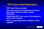 pht versus closed head injury