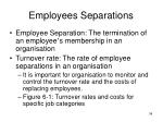 employees separations