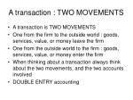 a transaction two movements