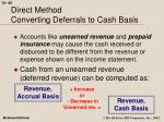 direct method converting deferrals to cash basis40