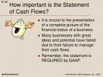 how important is the statement of cash flows