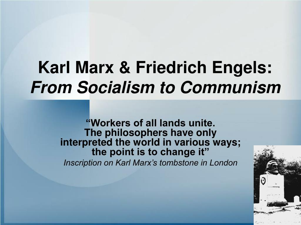 karl marx friedrich engels from socialism to communism l.