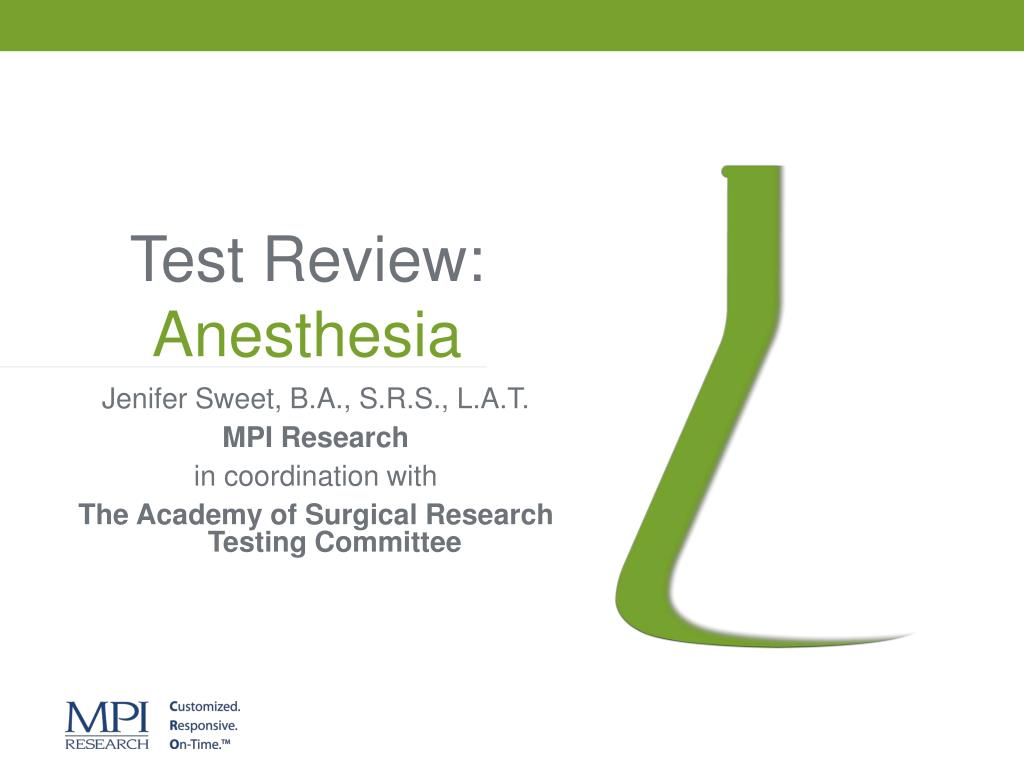 test review anesthesia l.