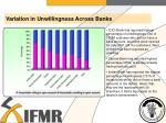 variation in unwillingness across banks