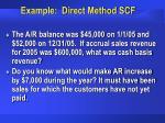 example direct method scf