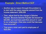 example direct method scf31