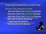 preparing the statement of cash flows