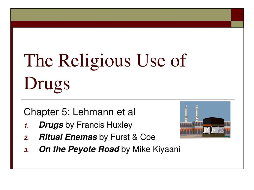 the religious use of drugs l.