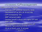 increased icp management