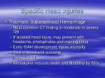 specific head injuries27
