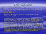 the ring sign