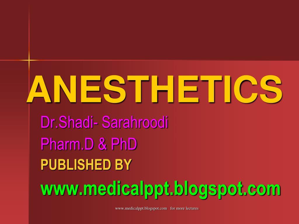 anesthetics l.