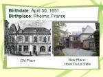 birthdate april 30 1651 birthplace rheims france