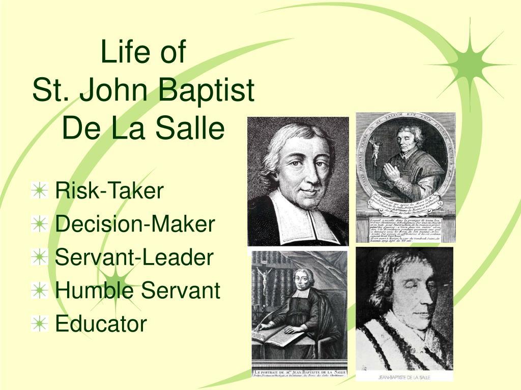 life of st john baptist de la salle l.