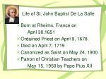 life of st john baptist de la salle23