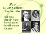 life of st john baptist de la salle24