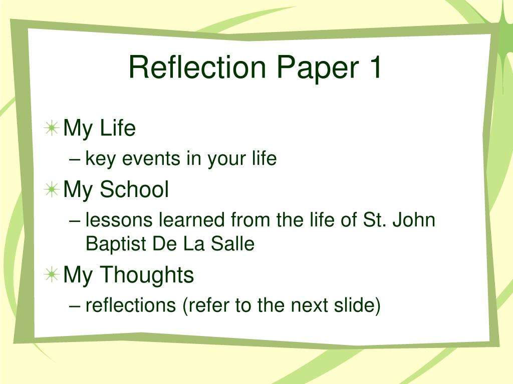 research reflection paper