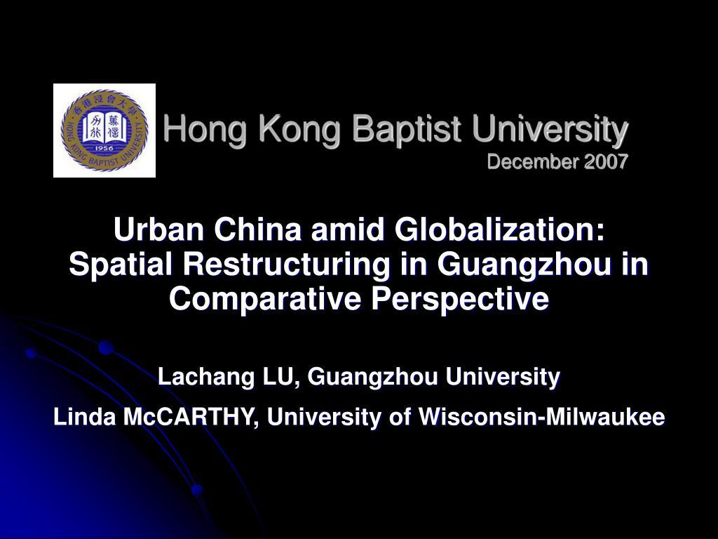 hong kong baptist university december 2007 l.