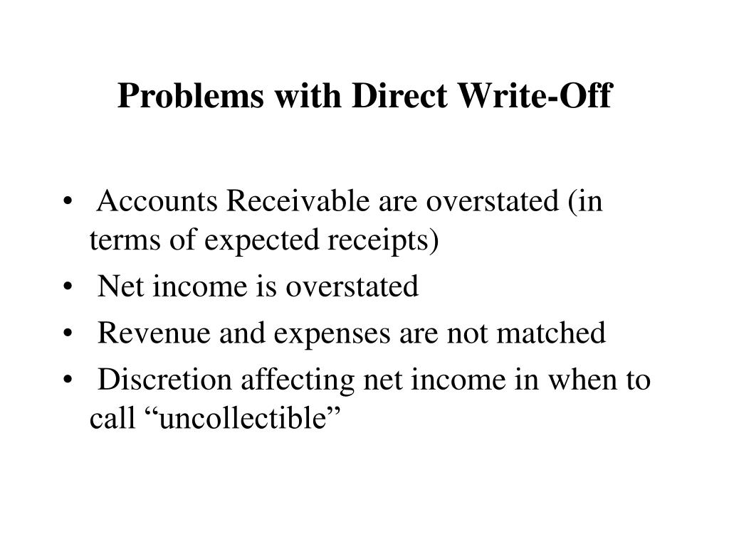 Problems with Direct Write-Off