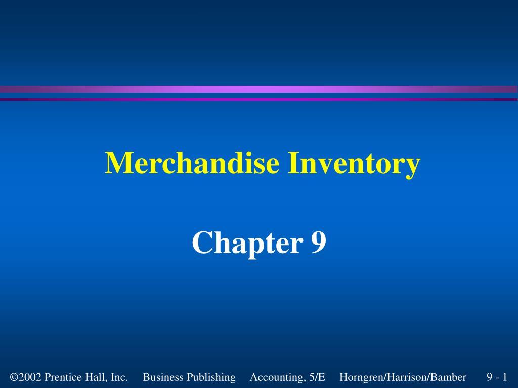 merchandise inventory l.
